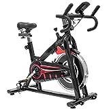 Altera Bicicleta Spinning Uso Rudo Fitness Profesional Rueda 18 kg (Negro)