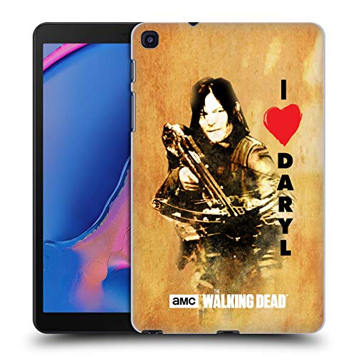 Head Case Designs Offizielle AMC The Walking Dead Daryl Armbrust Typografie Harte Rueckseiten Handyhülle Hülle Huelle kompatibel mit Galaxy Tab A 8.0 & S Pen 2019