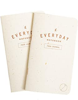 Everyday Food Journal Notebook 2-Pack, 94 Total Entries – Diet Tracker, Calorie Counter, Daily Fitness Log