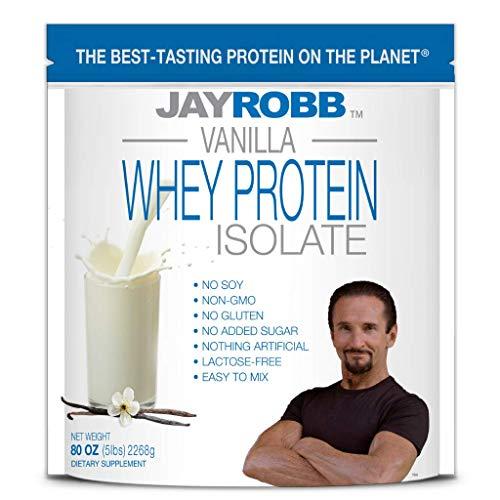 Jay Robb Whey Isolate Protein Powder, Low Carb, Keto, Vegetarian, Gluten Free, Lactose Free, No...