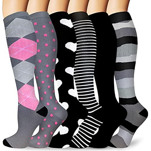 Compression Socks Women & Men 20-30 mmHg , Best Medical ,Athletic Running Flight Travel,Pregnant ,Hiking,Circulation