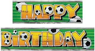 12ft Foil Soccer Party Banner