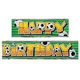 12ft Fußball Happy Birthday Banner