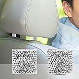 Winbang 2 pcs Cristal de siège de voiture appui-tête Collier Décor Charms Strass Intérieur de voiture Accessoires pour femme Strass universel