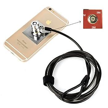 Ccmart câble antivol pour ordinateur portable tablette Verrou de sécurité antivol Sécurité matériel kit de câble antivol pour ordinateur portable, PC, ordinateurs portables, téléphones et projecteurs