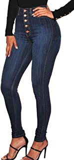 WSPLYSPJY Women's Denim Skinny Jeans Stretch Jeans Pencil Pants Ankle Length Trousers