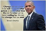 Barack Obama Zitat Klassenzimmer Poster Schwarz Geschichte