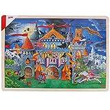 Goki Juego de Mesa Puzzle DE Madera 192 Piezas Modelo Cuento DE Hadas 46,5 x 33 cm Niños + 6 años