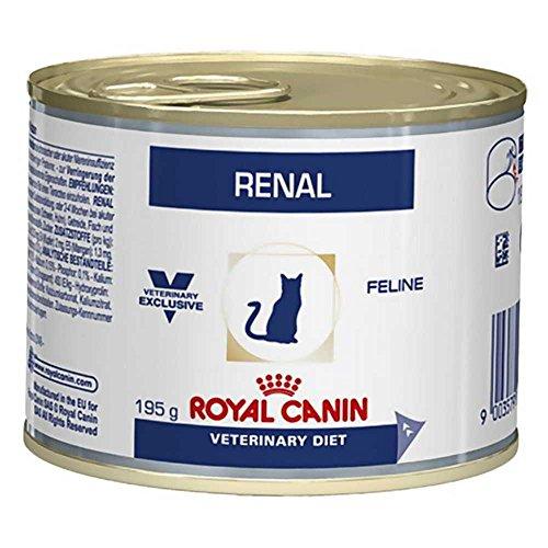 ROYAL CANIN Vdiet Cat Nourriture Renal Poulet 12 BT 195 g 180 Unités
