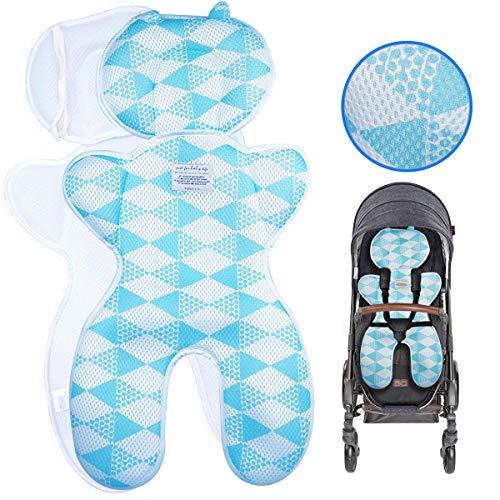 Baby kussen luchild Kinderwagen kussen Stoelverkleiner- Autostoelkussen Autostoelverkleiner baby Buggy-Kinderzitje- Comfort Neu (Blauw dik)