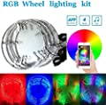 4pc 15.5Inch RGB Auto Multiple dream color Wheel lighting kit with Dream color Blue-tooth controller?288LEDs LED light strips fits most cars, trucks, SUV ATVs