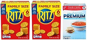 3-Count Ritz Crackers & Premium Saltine Crackers Variety Pack