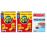 Nabisco RITZ Crackers & Premium Saltine Crackers Variety Pack, Family Size, 3 Boxes
