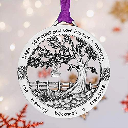 Tendaisy Comfybear When Someone You Love Becomes a Memory - Merry Christmas Memorial Ornament