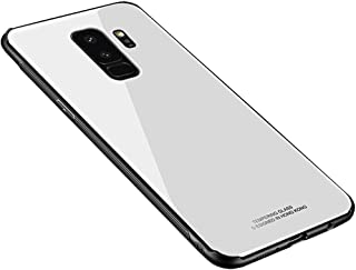 Anyos Galaxy S9 S9Plus case,Tempered Glass Shockproof Bumper Back Cover for Samsung GalaxyS9 S9Plus (Galaxy S9 Plus, White)