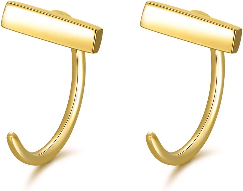 14K 2021 spring and summer new Gold Half Huggie New item Hoop Earrings Women Dainty Pierci for