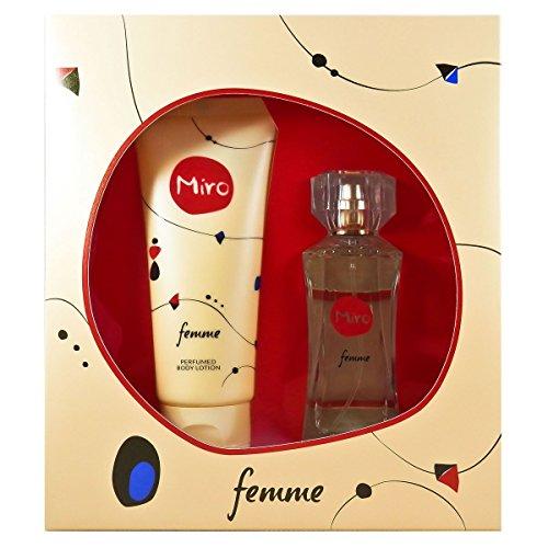"""MIRO Miro""""femme"""" woman set eau de parfum 50ml bodylotion 100ml 1er pack1 x 1 stück"""