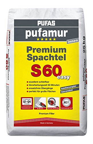 PUFAS S60 Premium Spachtel Gips-Spachtelmasse, 25kg