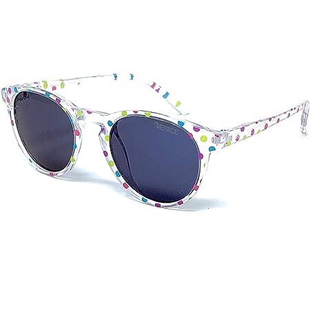 VENICE EYEWEAR OCCHIALI - Gafas de sol Polarizadas para niño o niña. Round vintage kids - Lentes que bloquea 100% los rayos UVA y UVB dañinos para nuestros ojos