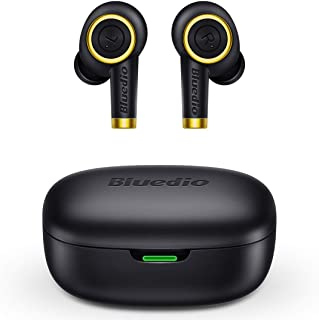 True Wireless Earbuds, Bluedio P(Particle) Bluetooth 5.0 TWS Bluetooth In-Ear Earphones(Built-In Mic, Stereo Calls with Ch...
