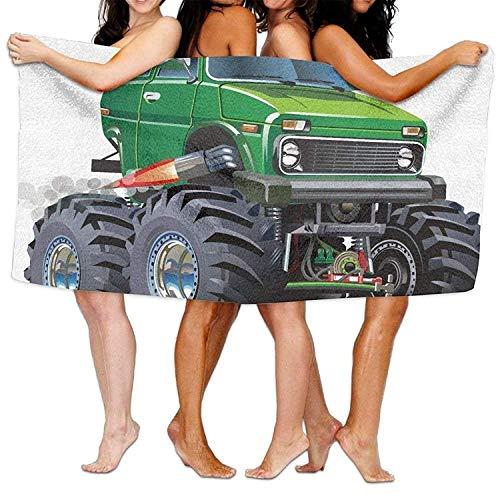 Microvezel zand gratis dun strand handdoek deken, SarahKen auto's Giant Monster pickup vrachtwagen met groot formaat banden en ophanging Extreme grootste wiel zacht lichtgewicht strand handdoek zwembad handdoek 30x50