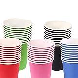 Vasos de papel desechables, 50 piezas para manualidades infantiles, materiales para fiestas de café, 5 colores