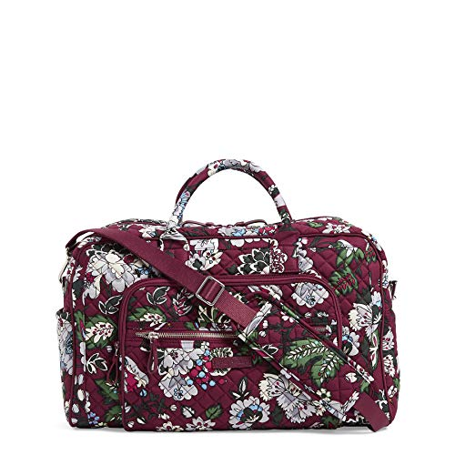 Vera Bradley Signature Cotton Compact Weekender Travel Bag, Bordeaux Blooms