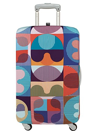 LOQI Artist Hvass & Hannibal Grid Luggage Cover, Size - Large Packing Organiser, 30 cm, Multicolour