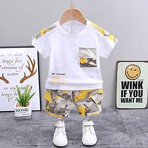 MikeyBee Nueva Ropa de Verano para bebés, Traje de Moda para niños, niñas, Camiseta de Dibujos Animados, Pantalones Cortos, 2 unids/Set, Ropa Informal para niños pequeños, chándales para niños