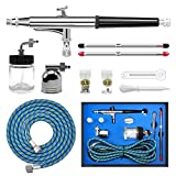 Pro Airbrush Kit High Precision Dual-Action Airbrush Gun with Suction Feed Pot