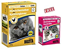 Bozita Chunks in Jelly Chicken Liver Saver Pack 16 x 370g Meat in an appetizing clear jelly No soy proteins or grains Free from artificial aromas and preservatives No meat meal Practical packaging FREE Bozita Chunks in Jelly Crayfish 6 x 370g