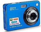 AbergBest 21 Mega Pixels 2.7' LCD Rechargeable HD Digital Camera Video Camera Digital Students Cameras,Indoor Outdoor for Adult/Seniors/Kid (Blue)