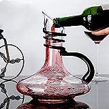 lpzsmd licorera Whisky decantador de Vino Jarra de Vino de Cristal de 1800 ml con Mango Jarra de Vino Tinto sin Plomo soplada a Mano 1013(Color:Default)