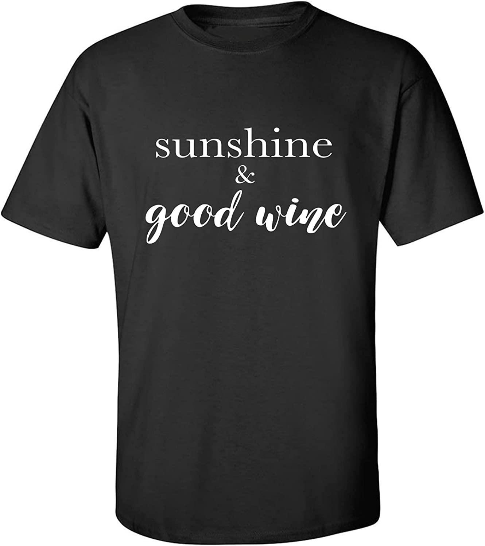 zerogravitee Sunshine & Good Wine Adult Short Sleeve T-Shirt