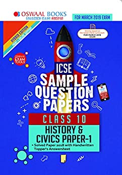 Oswaal ICSE Sample Question Papers Class 10 History and Civics (For March 2019 Exam) by [Oswaal Editorial Board]