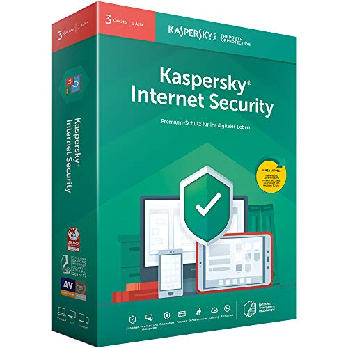 Kaspersky Internet Security 3 Geräte (Code in a Box). Für Windows 7/8/10/Mac/Android
