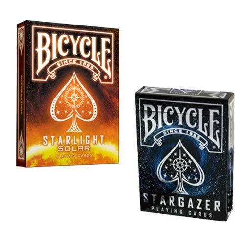 SOLOMAGIA 2 Mazzi di Carte Bicycle Stargazer + Stargazer Sunspot Playing Cards