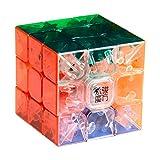 YJ MoYu 3x3 1 X 3x3x3 Yulong Stickerless Cube Puzzle, Transparent