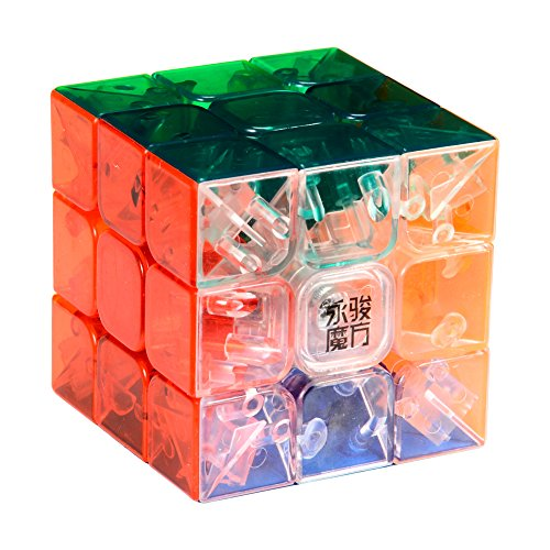 YJ MoYu 3x3 1 X 3x3x3 Yulong Stickerless Cube Puzzle, Transparent