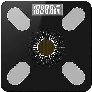 Báscula de baño digital Escala electrónica inteligente, luz de carga de energía, de alta precisión, pequeño error, de respuesta rápida, se puede utilizar for la medición del peso corporal báscula peso