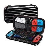 Alfheim Funda para Nintendo Switch Viaje Portátil Carcasa Rígida Funda Protectora para Switch Consola Joy-Cons Juegos Accesorios, Negro