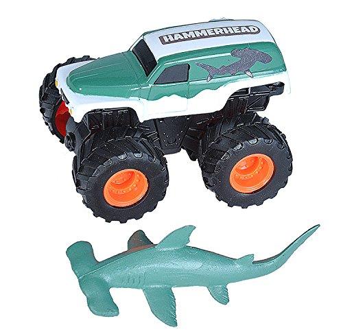 Wild Republic Hammerhead Shark & Truck, Adventure Gifts for Kids, Imaginative Play Toy, 4'