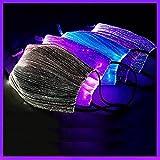 JUSHINI LED Bunt Coole Mundschutz Blink Leuchtende Mundbedeckung Männer Frauen Mund Nasenschutz Rave Nachtclub Face Coverings Bar Musikparty Bungee Wiederaufladbare Gesichtsschutz
