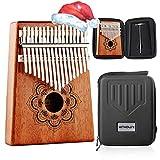 Kithouse Kalimba 17 Keys Thumb Piano, Portable thumb piano Mbira Finger Piano Include EVA protective Kalimba box, Music Song Book, tuning...