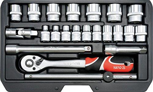 Steckschlüsselsatz Knarrenkasten Werkzeugkoffer TYP2 3/8' XS 22 TLG.