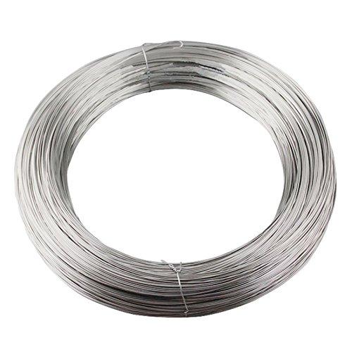 Cable alambre de acero inoxidable - SODIAL(R)1,5 mm diametro 7x7 25M Longitud...