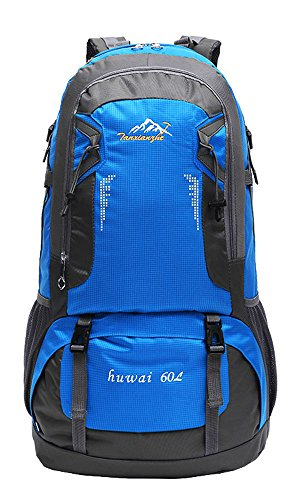 TanXianZhe Mnes Mochila para mujer, 60 L, impermeable, senderismo, camping, ciclismo, viaje, 6 colores, Ciclismo, 60 Liter, Azul