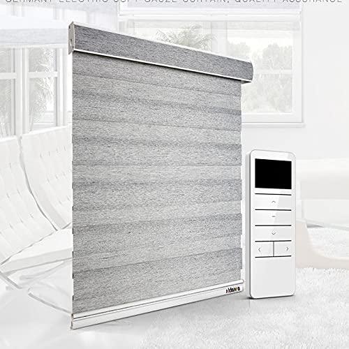 XRDSHY Rollos Elektrisch Doppelrollo Rollos Für Fenster Sonnenschutzrollo Seitenzugrollo Fensterrollo Lichtdurchlässig Und Verdunkelnd,Gray-120cm x 150cm