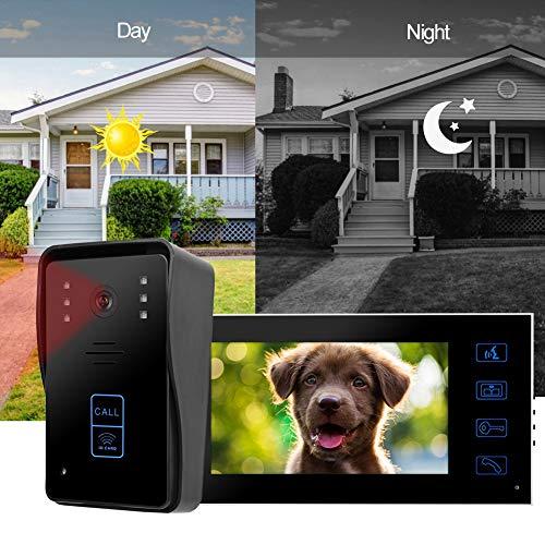 7 Pulgadas Intercomunicador Sistem, Pantalla táctil inalámbrica/WiFi IP Inteligente Video Puerta teléfono Timbre de la Puerta para Casas Privadas, Villas, Oficinas (EU)