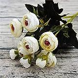 zhuao Mini Rose Bouquet De Pivoine, Rose Artificielle De Lyon, pour La Décoration De Salle De Mariage à La Maison 2